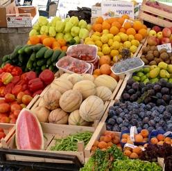 Frutas en mercado